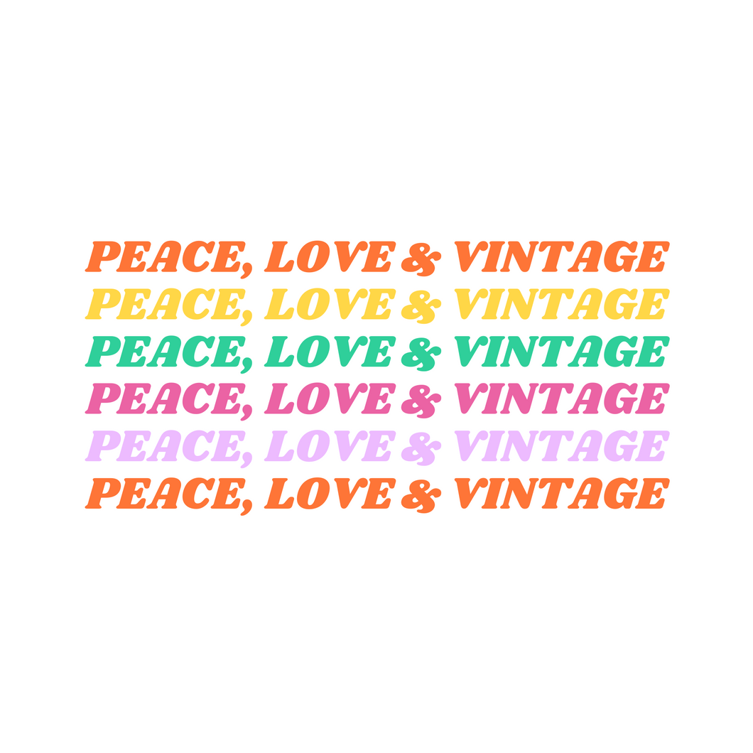 8x10 Peace, Love & Vintage Printable