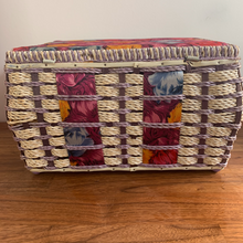 Load image into Gallery viewer, Vintage Sewing Box in Jewel Colours