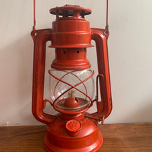 Load image into Gallery viewer, Red Rustic Vintage Lantern,  Made in Czechoslovakia