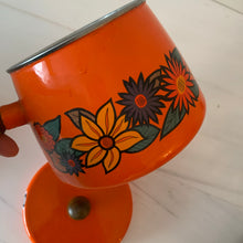 Load image into Gallery viewer, Funky Orange Vintage Fondue Cooking Pot
