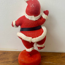 Load image into Gallery viewer, Vintage Flocked Happy Dancing Santa 1950's (Small)