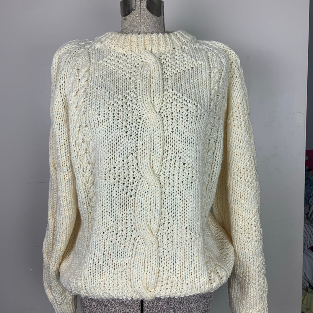 Pretty Cream Hand-knit Sweater