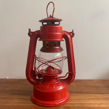 Load image into Gallery viewer, Red EVER BRIGHT Lantern Made in China, Vintage Red Metal Oil Light, Rustic, Farmhouse