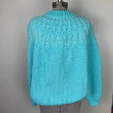 Load image into Gallery viewer, Dreamy Blue Hand-knit Sweater