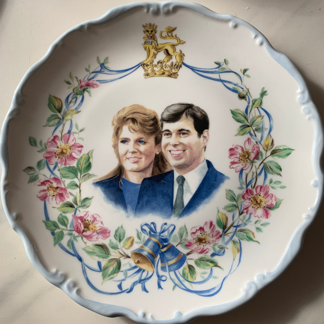 Celebratory Plate to Honour the Marriage of  Prince Andrew to Sarah Ferguson