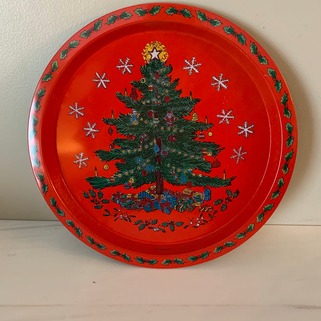 Christmas Metal Tray Set, Two Designs