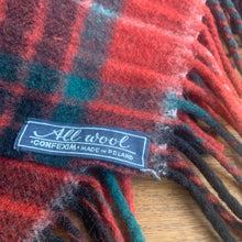 Load image into Gallery viewer, Red And Green Plaid, Made in Poland, Wool Picnic Blanket