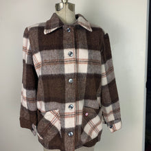 Load image into Gallery viewer, Vintage Woman's Lumber Jac Wool Shirt Jacket, Size 14
