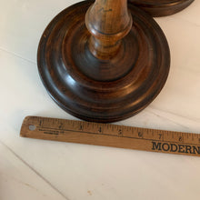 "Load image into Gallery viewer, 22"" Large Wooden Candlesticks"