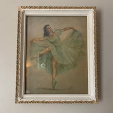 Load image into Gallery viewer, 1950's Monte Vintage Blue Ballerina Print