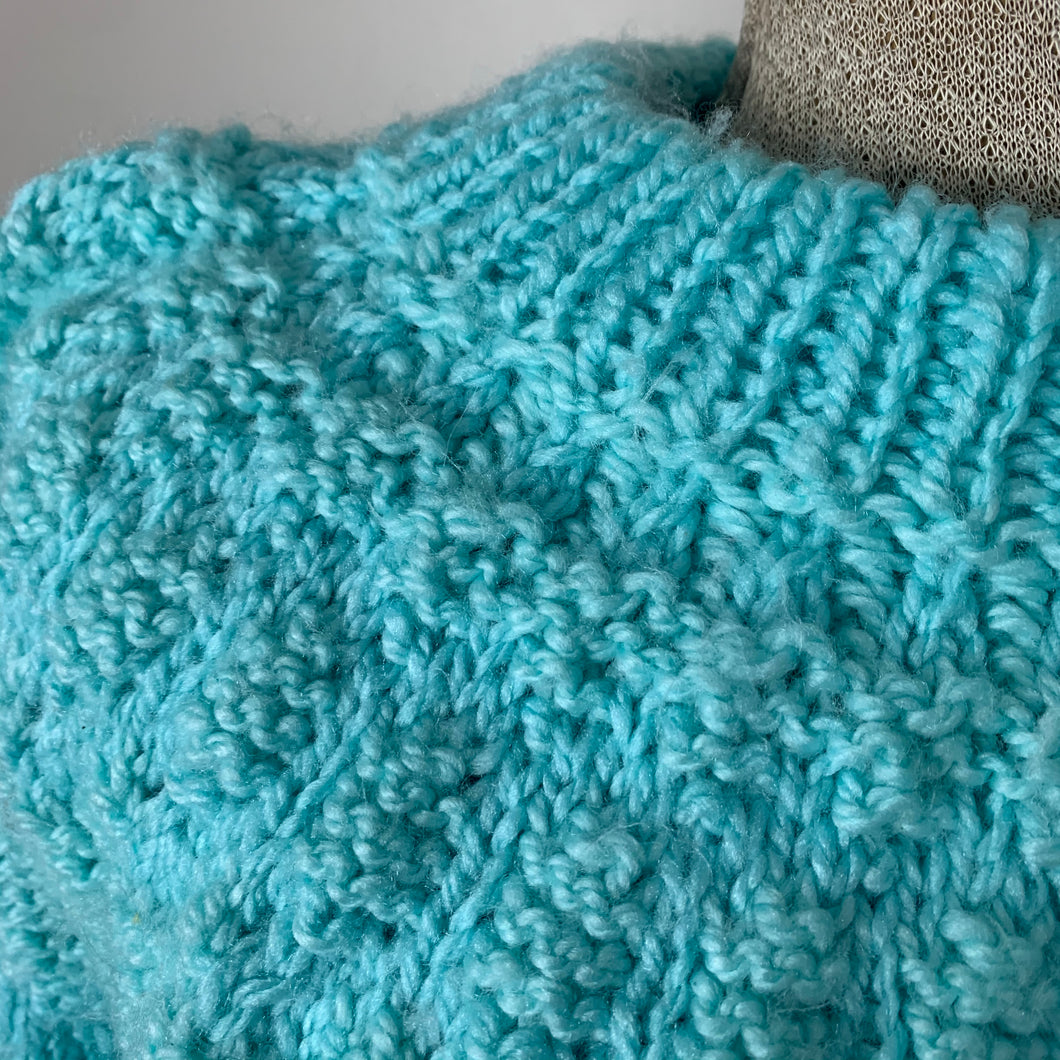 Dreamy Blue Hand-knit Sweater