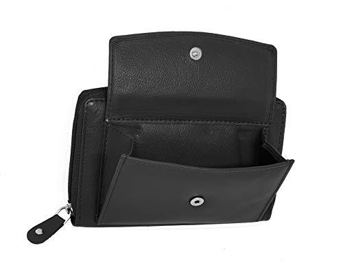 STARHIDE Women RFID Blocking Real Leather Full Zip Around Purse 5520 - Starhide