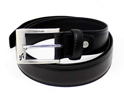 STARHIDE Mens Top Grain Genuine Leather Belts with Detachable Alloy Single Pin Buckle SB04 - Starhide
