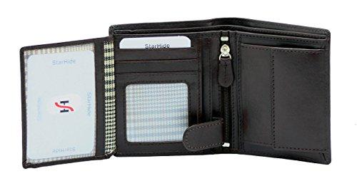 STARHIDE Mens RFID Blocking Genuine VT Leather Small Wallet 830 - Starhide