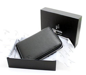Starhide Women RFID Safe Protector Zip Around Genuine Leather Wallet with Coin Pocket Gift Box 5550 - Starhide