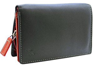 STARHIDE Ladies RFID Blocking Compact Multi Colour Soft Real Leather Wallet 5540 - Starhide