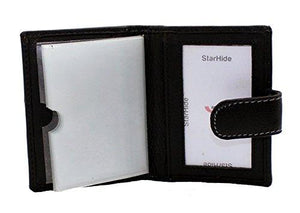 STARHIDE Mens Carbon Fiber with Real Leather Credit Card Holder Case 1185 - Starhide