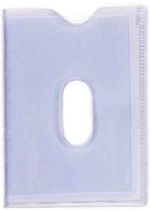 STARHIDE Replacement Plastic 20 Credit Card Portrait Insert Album Sleeves with Thumb Hole - Starhide