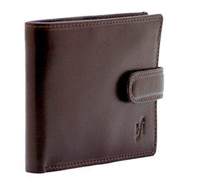 STARHIDE Mens RFID Blocking VT Leather Bifold Zip Coin Pocket Wallet 840 Brown - StarHide