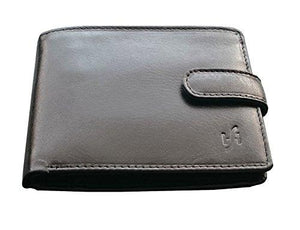 STARHIDE Gents RFID Blocking Genuine Soft Veg Tanned Leather Passcase Wallet 5002 - Starhide