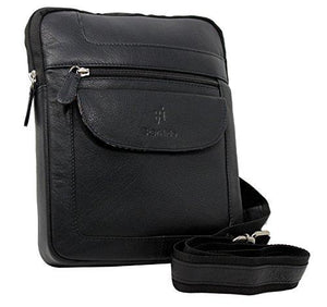 STARHIDE Mens Womens Soft Genuine Leather Travel Messenger Bag for Ipad Tablet 505 - Starhide