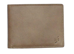 StarHide Men's Gents Brown Smooth Leather Wallet With A Secure Zipped Coin Pocket & ID Window Gift Boxed - 1140 - Starhide