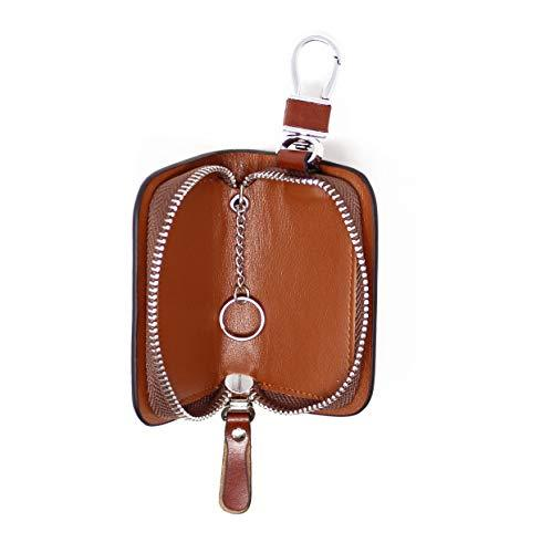 StarHide Leather Hanging Keychain Holder Zipper Pouch Wallet - Starhide
