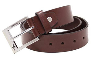 STARHIDE Mens Full Grain Real Leather Belt With Detachable Alloy Single Prong Buckle SB08 - Starhide