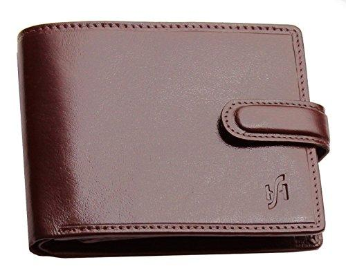 STARHIDE Gents RFID Blocking Smooth Genuine VT Leather Wallet With Coin Pocket and Id Window 1212 (Brown) - Starhide