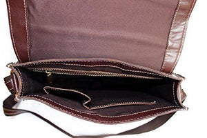STARHIDE Women Genuine Leather Travel Messenger Cross Body Shoulder Bag 520 Dark Brown - Starhide