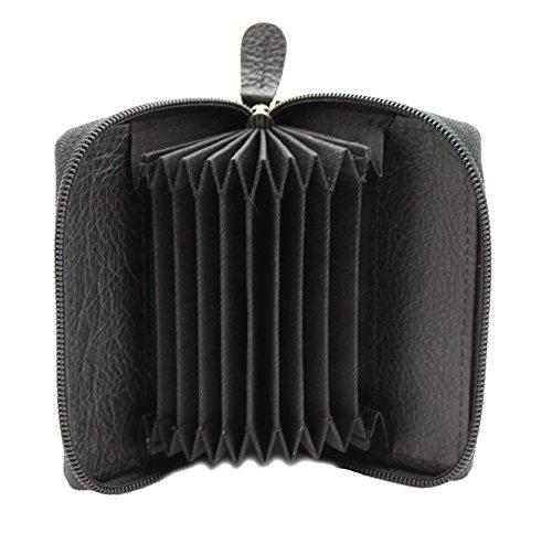 STARHIDE Womens Small Leather Fan Concertina Palm Credit Card Holder 1234 - Starhide