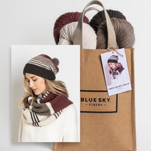 Load image into Gallery viewer, Blue Sky Fibers Forest Lake Hat & Cowl Kit