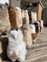 Load image into Gallery viewer, Lovely Lama - 100% alpaca fur stuffed Figurine - Green Gable Alpacas