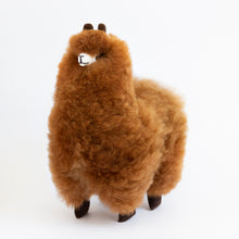 Load image into Gallery viewer, Lovely Llama - 100% alpaca fur stuffed Figurine