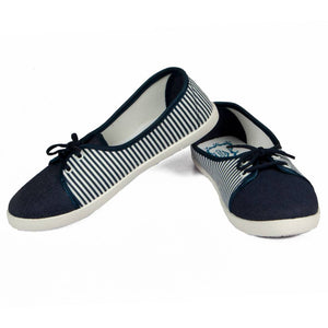 Blue Fabric Casual Shoes for women