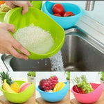 Pack of 3 pcs fruit vegetable rice pasta pulse wash bowl washing bowl