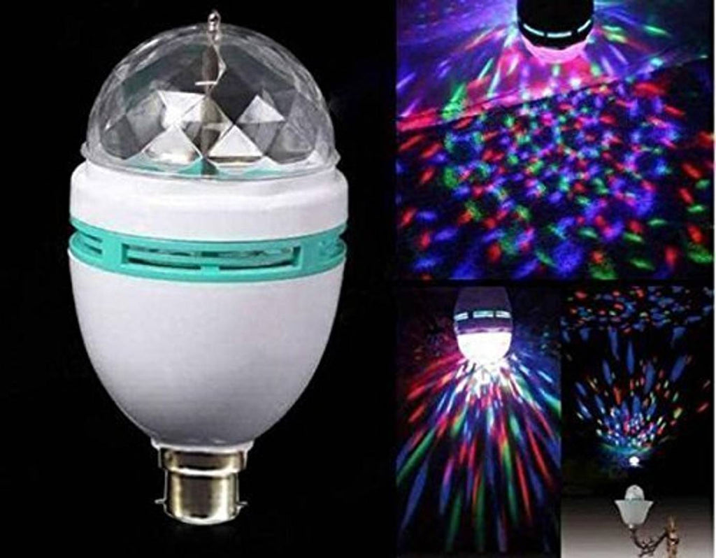 360 Degree LED Crystal Rotating Bulb Magic Disco LED Light,LED Rotating Bulb Light Lamp for Party/Home/Diwali Decoration
