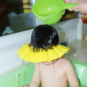 Swabs® Baby Infant Kids Children Toddler Shampoo Bath Shower Cap Wash Hair Ear Shield - YELLOW