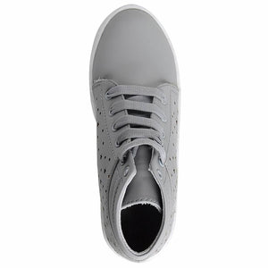 Casual Grey Comfortable & Fashionable Mid Ankle Sneakers Shoes for Women and Girls