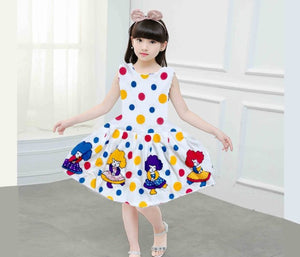 Girl's Imported Cotton Printed Trendy Frock