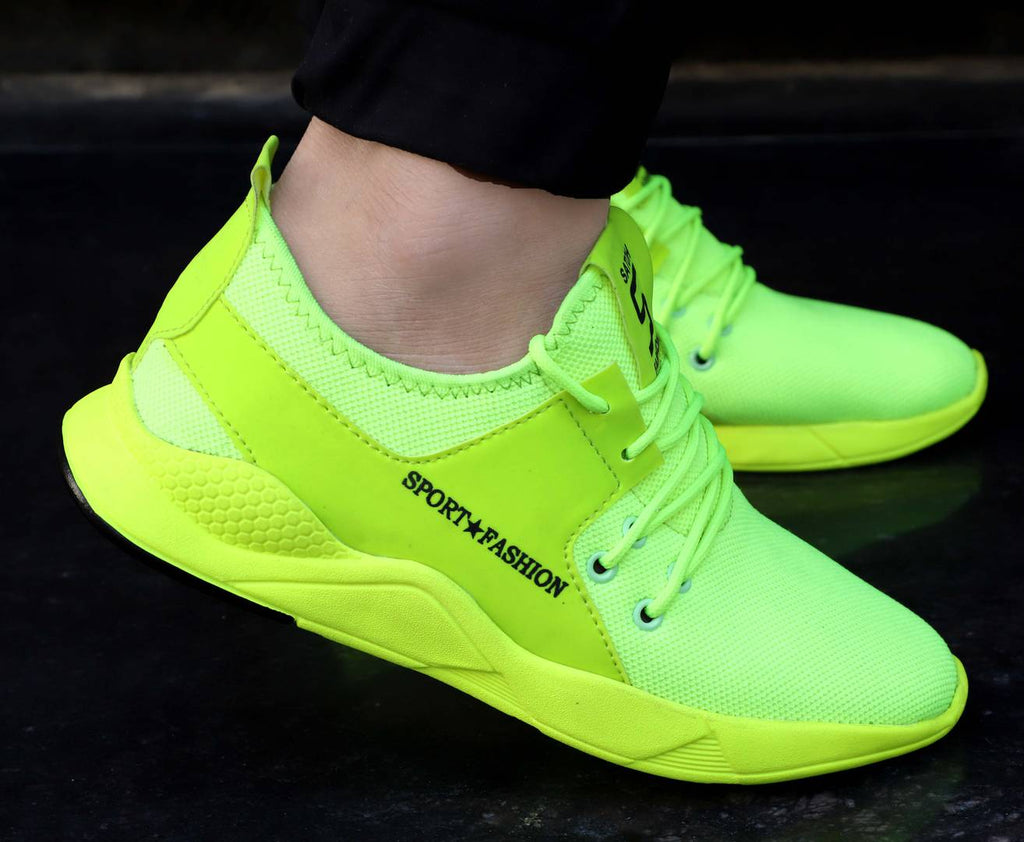 Men's Green Mesh Running Sport Shoes