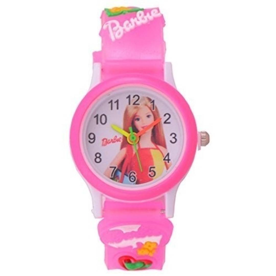 kid's pink barbie watch