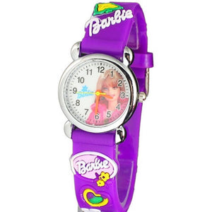 kid's purple barbie watch