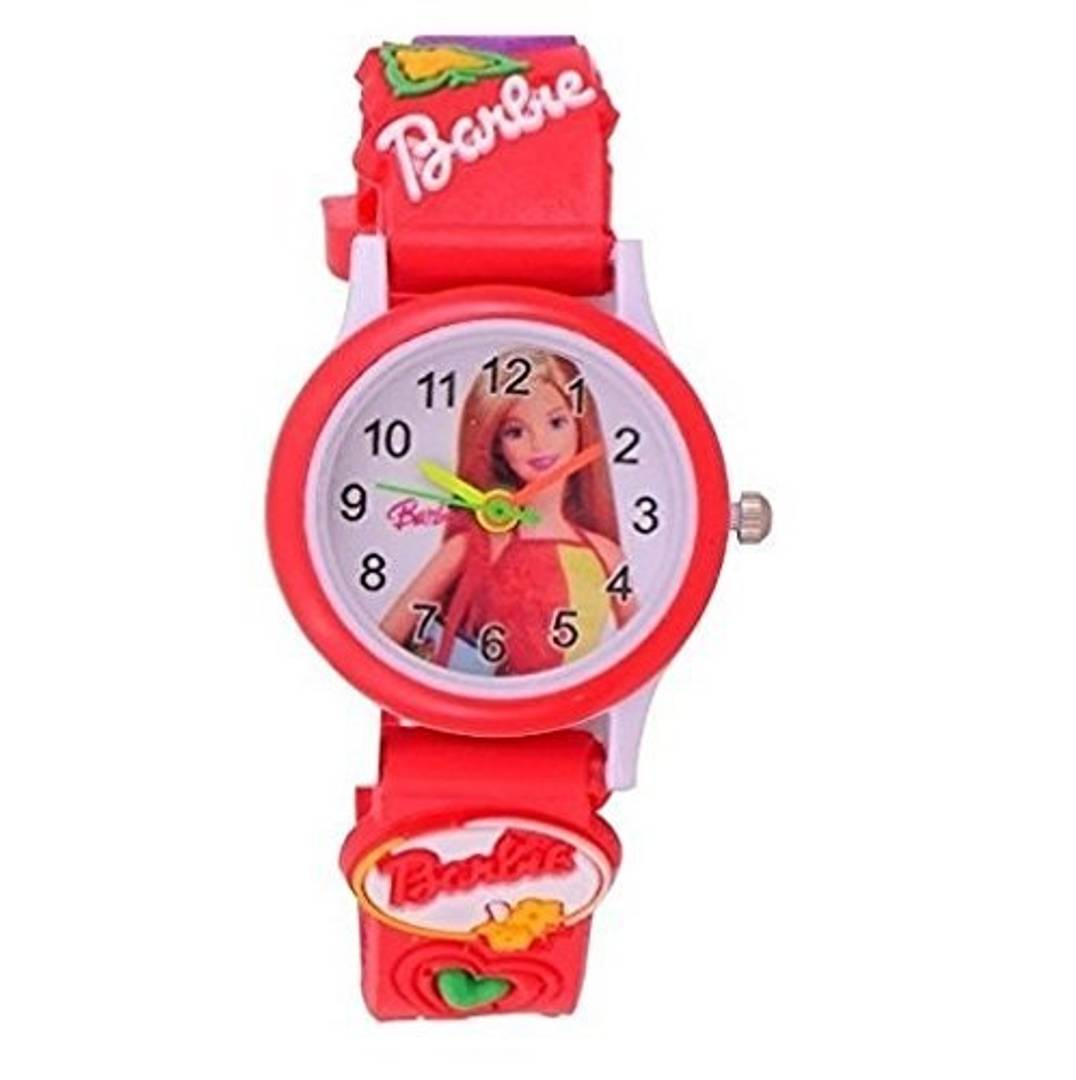 kid's red barbie watch