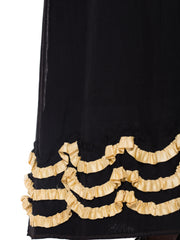 1890s Very Fine Hand Embroidered Late Victorian Skirt