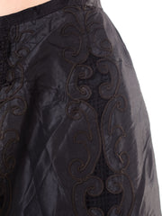 Late Victorian Cotton Lined Embroidered Silk Taffeta Skirt