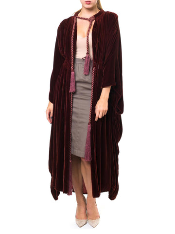 1920 Luxurious Burgundy Long Velvet Masonic Robe