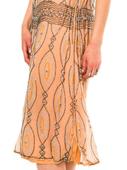 1920s Beaded Flapper Era Dress