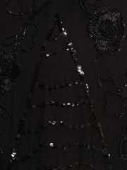 Sweet yet Dark Beaded Art Deco Dress from the 1920s