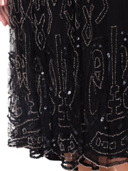 True Art Deco 1920s Beaded Flapper Dress